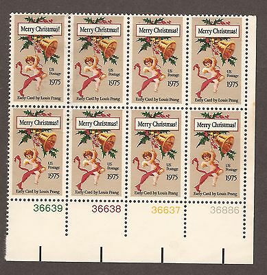 United States Postage Stamps 1975 Louis Prang Block Of 8 Unused