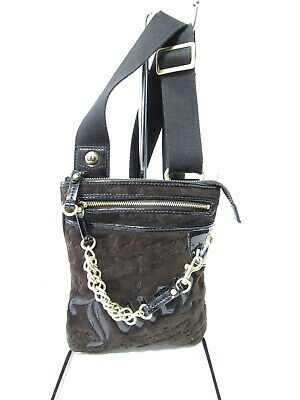JUICY COUTURE Brown Velour Girls Cross-Body Bag