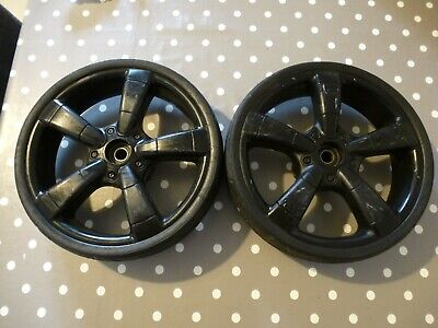 iCandy Strawberry 1 & 2 Black Rear Back Wheels Tyres, Full Working Order