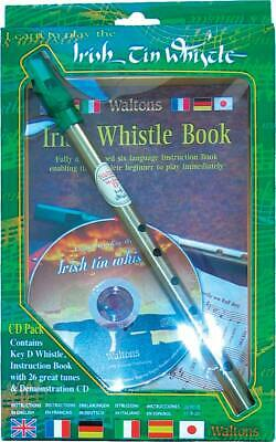 Waltons D Tin Penny Folk Irish WHISTLE GIFT PACK with CD and Book.