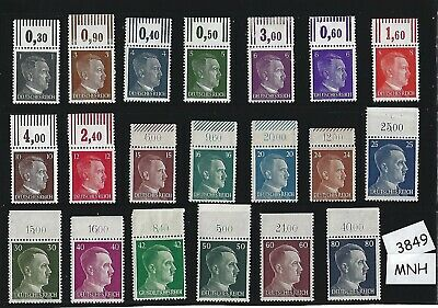 #3849     MNH stamp set / Adolph Hitler / Third Reich / Nazi Germany / 1941-1944