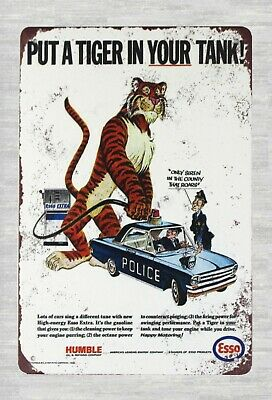 US Seller- Esso gas put a tiger in your tank tin metal sign best wall hangings