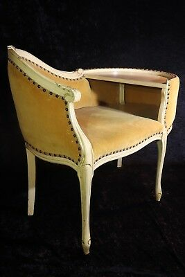 Beautiful Antique French Provincial Telephone Chair and Table Bench circa 1900