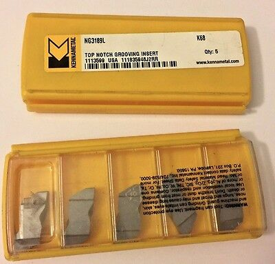 """5 Kennametal Top Notch NG 21L K420 1//32/"""" Wide Carbide Grooving Inserts"""
