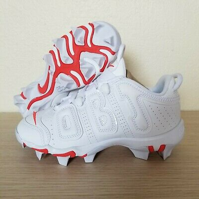 f4f931968 Nike Vapor Untouchable Shark 3 BG OBJ Cleats White Crimson Size 1Y (BV8205- 100