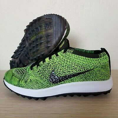 18acd660f5548 Nike Womens Flyknit Racer G Golf Shoes Volt Sequoia Black Size 8 (909769-700