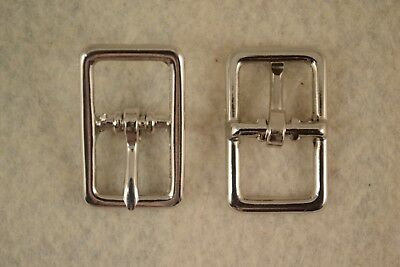 """LEATHER STRAP SECURITY new 10 #9230 1/"""" LOCK TONGUE BUCKLE Satin Nickel Plated"""