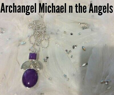 Code 501 Archangel Michael n The Angels Charged n Infused Jade Necklace