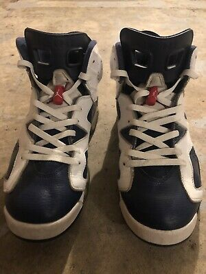 new product ba888 57402 Nike Air Jordan 6 VI Retro Olympic Size 11.5 Red White Navy 384664-130 2012