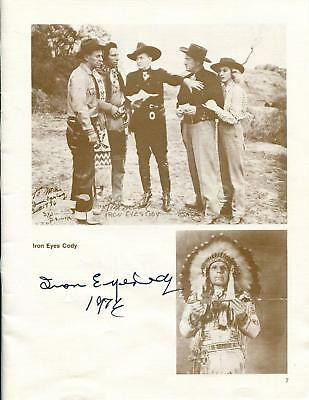 Iron Eyes Cody Signed Autographed First Day Cover Jsa Certified Movies