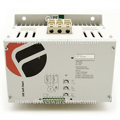 75 HP, 55kW, 97 Amps, 480V AC, Int-Bypassed Softstarter, Trip Class 5, DFE-16