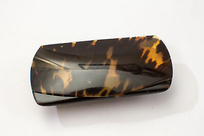 Antique Art Deco Faux Tortoiseshell & Sterling Silver Reading Glasses Case 1924