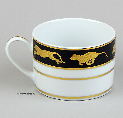 6 oz. Cup, MINT Condition! Lynn Chase Designs, Jaguar Gold, Fine Porcelain