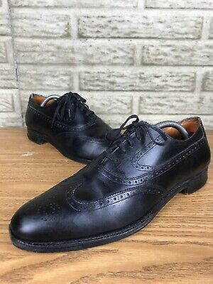 a1f5d31c905 Vintage Brooks English For Brooks Brothers Surrey Black Wingtip Sz 9.5 B 285