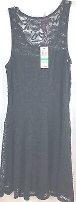 NWT Black Lace Material Girl Dress Size Large