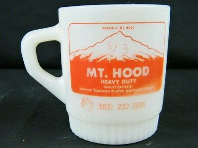 Vintage Fire KIng Mt. Hood Heavy Duty Car Auto Batteries OR. Coffee Cup Mug