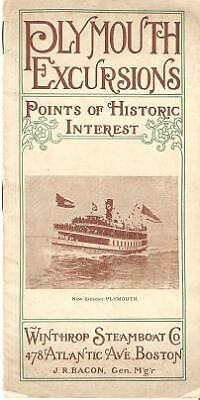 Plymouth Massachusetts / PLYMOUTH EXCURSIONS Points of Historic Interest 1st ed
