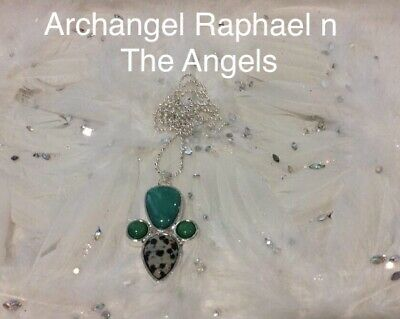 Code 503 Archangel Raphael n The Angels Charged n Infused Jade Necklace