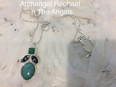 Code 503 Archangel Raphael n The Angels Charged n Infused Green Jade Necklace