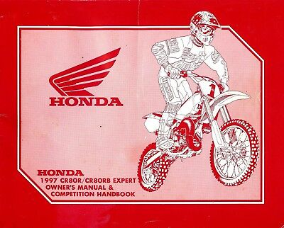 1997 Honda Cr80R/Cr80Rb Motocross Motorcycle Owners Competition Handbook Manual