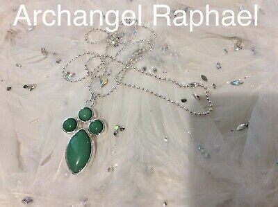 Code 505 Archangel Raphael Charged n Infused Green Jade Necklace Heal Yourself