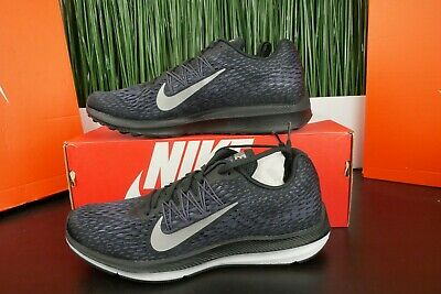 f21704a77d4 Nike Zoom Winflo 5 Mens Black Pewter Gridiron Running Shoes AA7406-005 Size  8