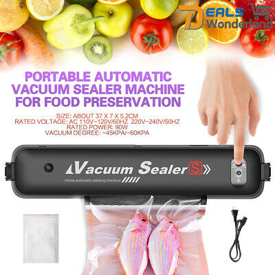 Electric Vacuum Sealer Sous Vide Packing Machine Food Bag Roll Kitchen Storage