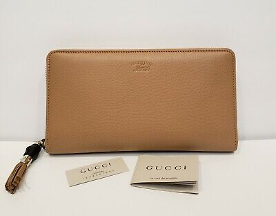 4d0809076e86 GUCCI ZIP AROUND Wallet Bamboo Tassel Black Authentic! - $125.00 ...