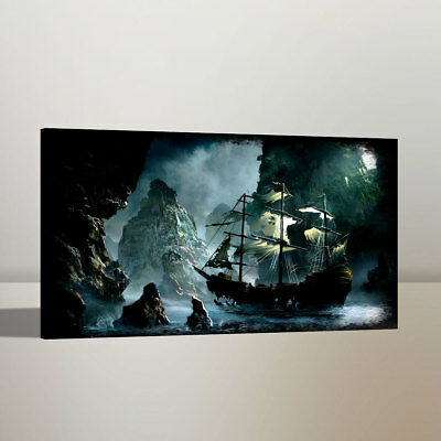 Canvas Print Pirates of The Caribbean HD Art Work Painting Home Wall Decor 12x20