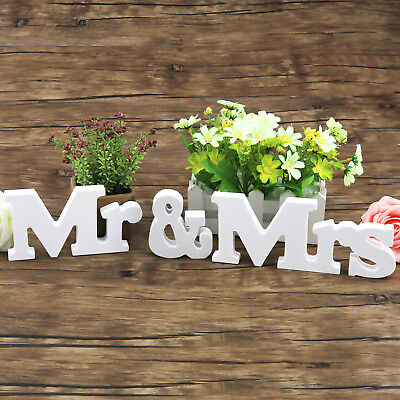 Mr & Mrs Standing Letter Wedding Photography Props Top Table Decoration