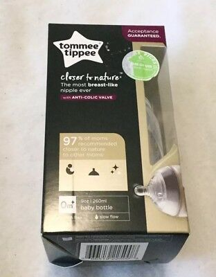 Tommee Tippee Baby Bottle 9floz/260ml Closer To Nature New In Box