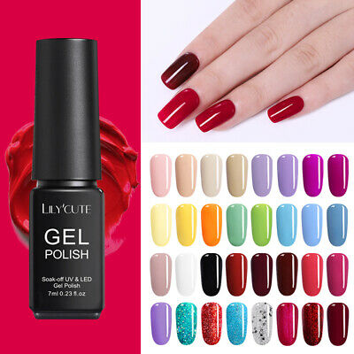 146Colores LILYCUTE Smalto Gel UV Semipermanente Unghie Soak off Nail Art UV Gel