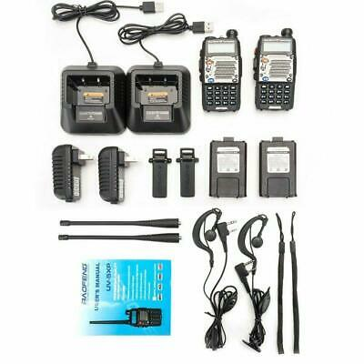 2x BaoFeng UV-5XP (UV-5R Upgrade) Handheld Two Way Radio 8W V/UHF Walkie Talkie