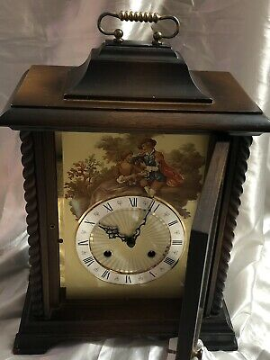 Antique Clock Carriage Mechanical Mantel Bracket Clock, Excellent Working Order