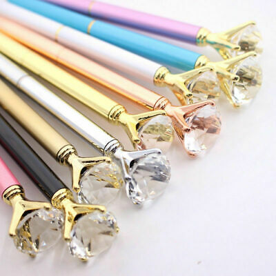Crystal Metal Top Quality Scepter Ballpoint Pen Gifts Bling Diamond Stationery