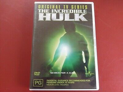 The Incredible Hulk The Original Tv Series  DVD Region 4 (VG Condition)