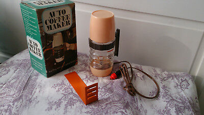 Vintage 1970s / 80s Plug In Car 12v Auto Coffee Maker in Original Box