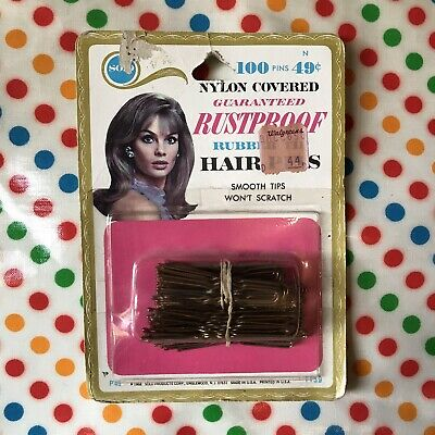 JEAN SHRIMPTON 1968 Hair Pins In Original Packaging Solo Products Bobby 1960s