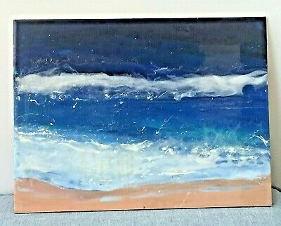 ART ABSTRACT ORIGINAL Painting  Epoxy resin 16,5*20,5 in