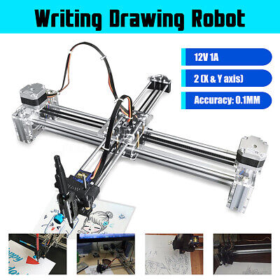 XY 2 Axis Drawing Machine Robot Auto Writing Signature Draft Engraving DIY AU