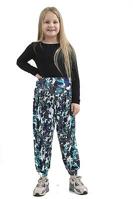 Girls Kids Boys Hareem Trouser Ali Baba Harem Leggings Pants Customs Dance 5-13