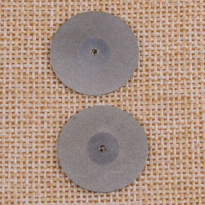 2pcs Dental Diamond Disc Wheel For Porcelain Teeth Cutting Polishing 220*0.2mm