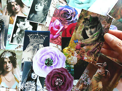 100 Vintage Victorian Ephemera Gypsy Bohemia Scrapbook kits,Junk journal
