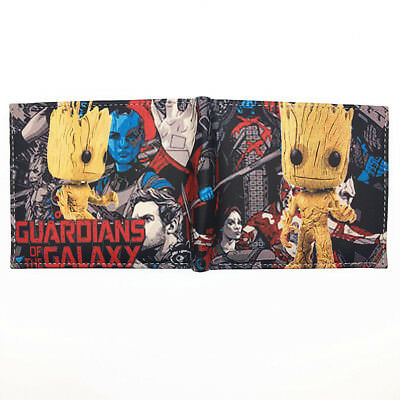 Guardians of the Galaxy Wallet id window 2 card slot zipped coin pocket Bautista
