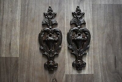 Vintage iron handmade french gate door hinges Decorative head barn rusty 2 Pic