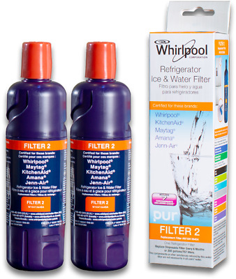 2 PacK Whirlpool-EveryDrop-EDR2RXD1-W10413645A-Filter 2 Water Filter Replacement