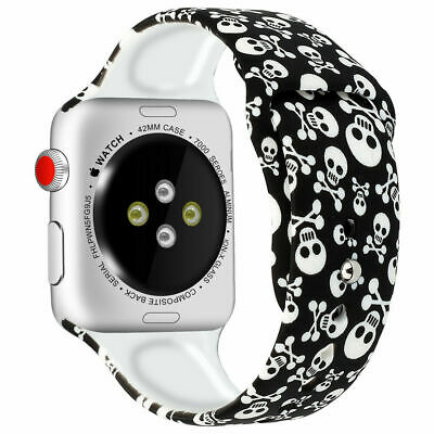 Silicone Prints Replacement Strap Band For Apple Watch Series 4 3 2 1 38/40/44mm