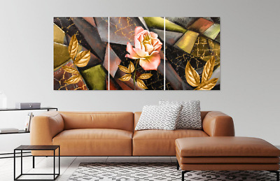 Amazing Abstract Pink Rose Leaves Print Home Decor Wall Art choose your size