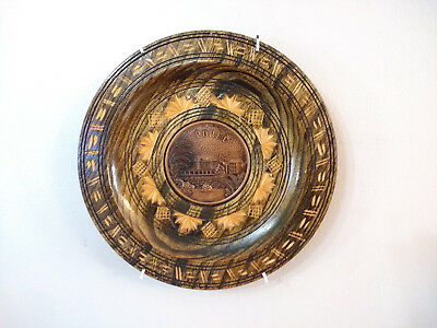 Hand Crafted Smooth Wood Wooden Wall Hanging Art Plate Dish Plaque