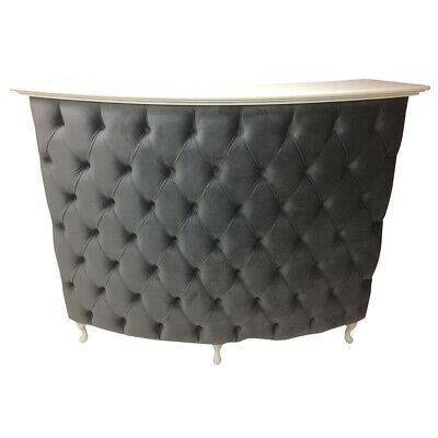 Curved Reception Desk-Retail Cash desk with padded front